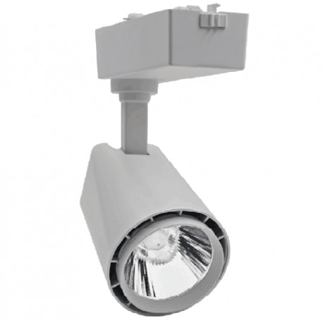 LEDlife Skinnespot 30w - 3000lm, flot design, 3000k, Farve: hvid / sølv / sort