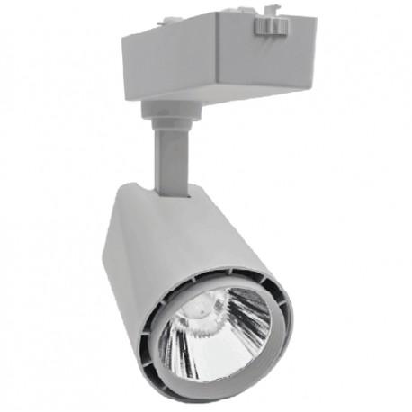 Restsalg: LEDlife Skinnespot 30W - 3000lm, flot design, 3000k, Farve: hvid / sølv / sort