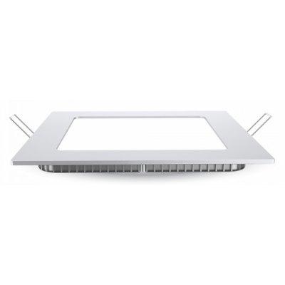 Image of   V-Tac 6W LED indbygningspanel - Hul: 10,5 x 10,5 cm, Mål: 12 x 12 cm, 230V - Kulør : Neutral, Dæmpbar : Ved tilkøb