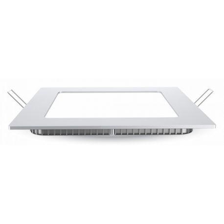 V-Tac 6W LED indbygningspanel - Hul: 10,5 x 10,5 cm, Mål: 12 x 12 cm, 230V