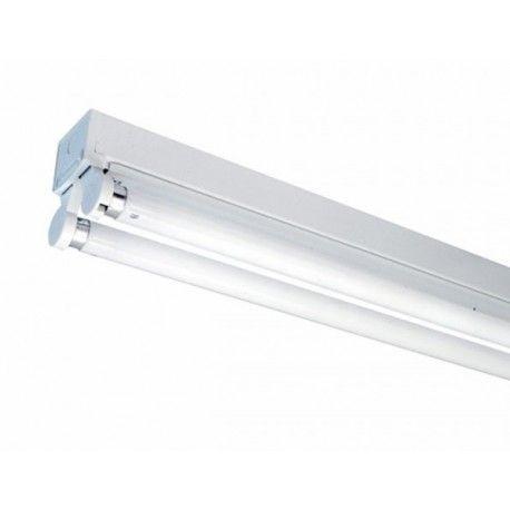 V-Tac T8 LED grundarmatur - Til 2x 120 cm LED rør, IP20 indendørs