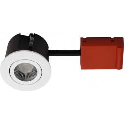 DAX.010016.000444.bundle: Daxtor Easy 2-Change indbygningsspot - Mat hvid, godkendt til vådrum og isolering