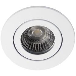DAX.001250.003339.bundle: Daxtor Alu line indbygningsspot - Mat hvid, til udendørs med GU10 aflastning