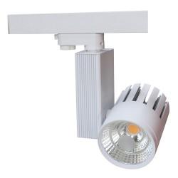 LEDlife Skinnespot 30w - 2700lm, Varm hvid 3000k, Farve: hvid / sølv / sort