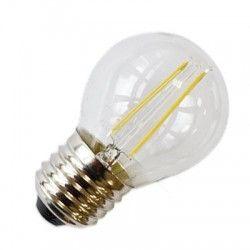 LL.E27.2W.filament: LEDlife 2W LED kronepære - Kultråd, varm hvid, E27