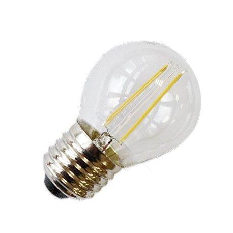 LEDlife 2W LED krone pære - Kultråd, varm hvid, E27