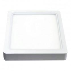 V-Tac 22W LED loftslampe - 20,5 x 20,5cm, Højde: 3,5cm, hvid kant