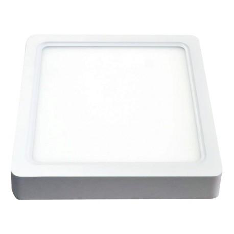 V-Tac 22W LED loftslampe - 20,5 x 20,5cm, Højde: 3,5cm, hvid kant, inkl. lyskilde