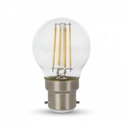 VT-2074: V-Tac 4W LED krone pære - Kultråd, varm hvid, B22