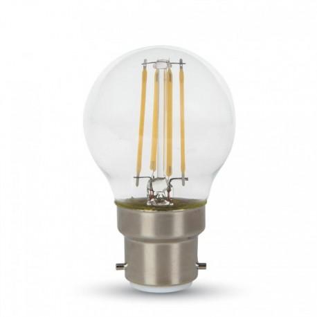 V-Tac 4W LED krone pære - Kultråd, varm hvid, B22