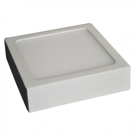 V-Tac loftslampe / LED panel 12W - Super tynd, 14 x 14cm, Højde: 2,4cm, hvid kant