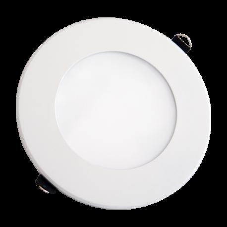 V-Tac 8W LED indbygningspanel - Hul: Ø12,5 cm, Mål: Ø14,5 cm, uden driver