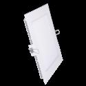 V-Tac 8W LED indbygningspanel - Hul: 10,5 x 10,5 cm, Mål: 12 x 12 cm, uden driver