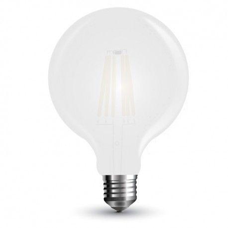 V-Tac 7W LED globepære - Kultråd, Ø12,5 cm, matteret glas, E27