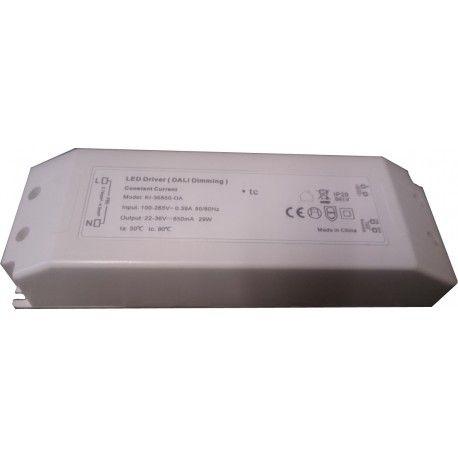 29W DALI dæmpbar driver til LED panel - Med Dali interface, passer til vores 29W LED paneler