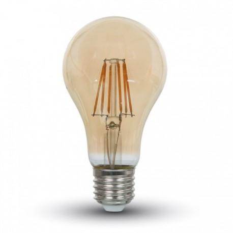 V-Tac 4W LED kultrådspære - Røget glas, ekstra varm hvid (2200K), E27