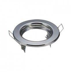 Downlight kit uden lyskilde - Hul: Ø6,5 cm, Mål: Ø8 cm, krom, Inkl. fatning til GU10 eller MR16