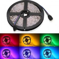 12V RGB V-Tac 9,6W/m RGB stænktæt LED strip - 5m, 60 LED pr. meter