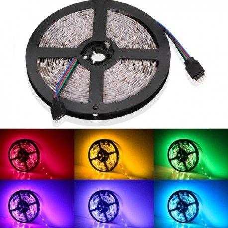 V-Tac 9,6w RGB stænktæt LED strip - 5m, 60 LED pr. meter