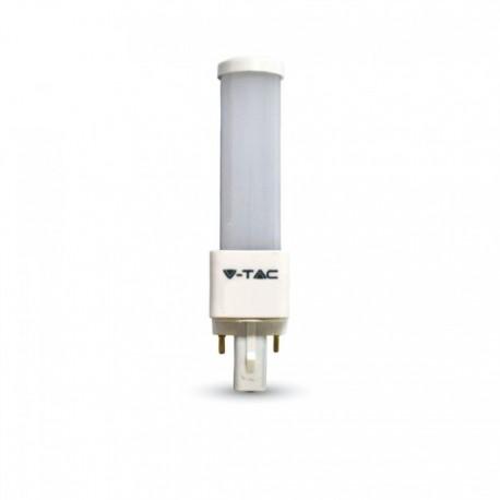 V-Tac G24D LED pære - 6W, 120°, mat glas