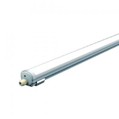 Image of   V-Tac vandtæt 48W komplet LED armatur - 150 cm, IP65, 230V - Kulør : Kold, Dæmpbar : Ikke dæmpbar