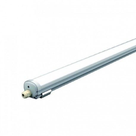 V-Tac vandtæt komplet LED armatur - 48W, IP65, 150cm