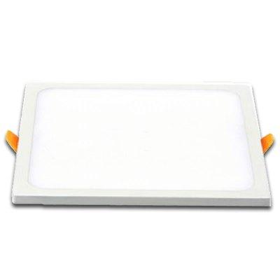 Image of   V-Tac 15W LED indbygningspanel - Hul: 13,5 x 13,5 cm, Mål: 14,5 x 14,5 cm, 230V - Kulør : Kold, Dæmpbar : Ikke dæmpbar