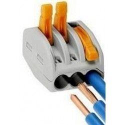 Skrueløs samlemuffe til 3 ledninger