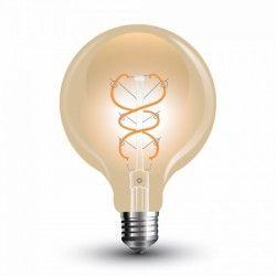 VT-2075: V-Tac 5W LED globe pære - Kultråd, G95, ekstra varm hvid, E27