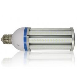 MEGA36.E27.klar: LEDlife MEGA36 LED pære - 36W, dæmpbar, klar glas, varm hvid, IP64 vandtæt, E27