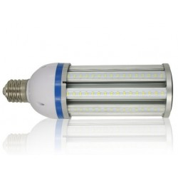 MEGA36.E40.klar: LEDlife MEGA36 dæmpbar - 36w, klar glas, varm hvid, IP64 vandtæt, E40