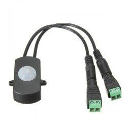 PIR sensor til LED strip - 12-24V, med skrueterminaler