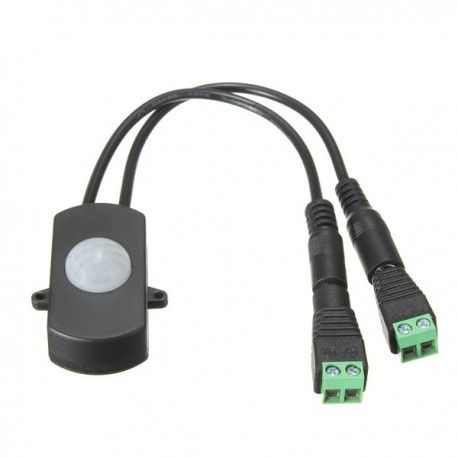 PIR sensor til LED strip - 12V (60W), 24V (120W), med skrueterminaler