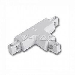 Skinnespots LED V-Tac samleled til skinner - Hvid, T-stykke