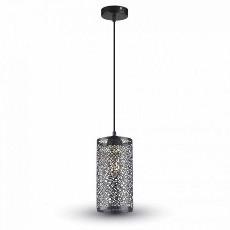 V-Tac pendel lampe - mat sort, metal, E27