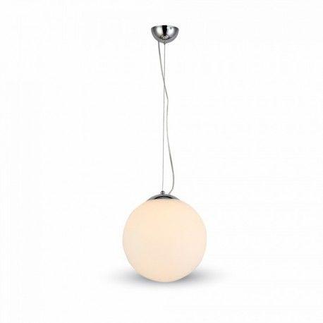 V-Tac rund glas pendel lampe - Ø25cm, E27