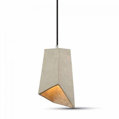 Image of   V-Tac beton pendel lampe - 15,5x15,5cm, E27