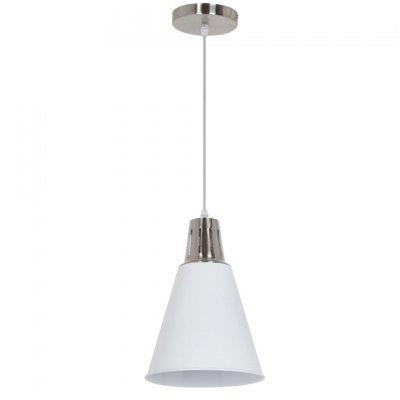 Image of   V-Tac moderne pendel lampe - Krom + hvid sandblæst, Ø22cm, E27