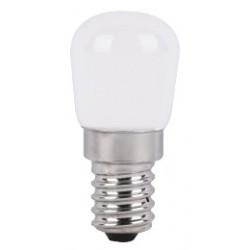 2W LED køleskabspære Dæmpbar - Kultråd, Materet, ST26, hvid kulør, E14