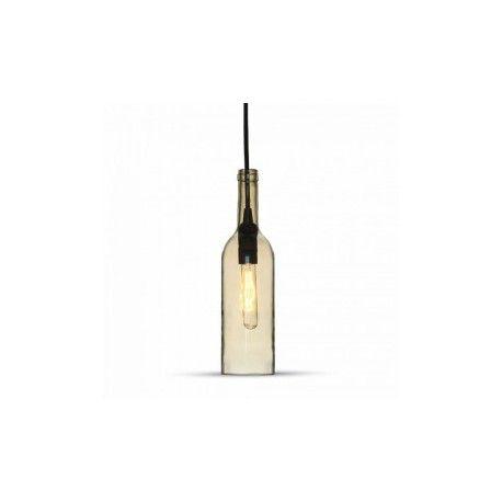 V-Tac flaske pendellampe - Gennemsigtig, E14