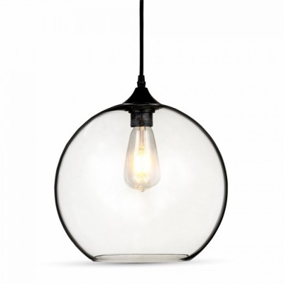Image of   V-Tac pendel lampe - Globe, glas, Ø30cm, E27