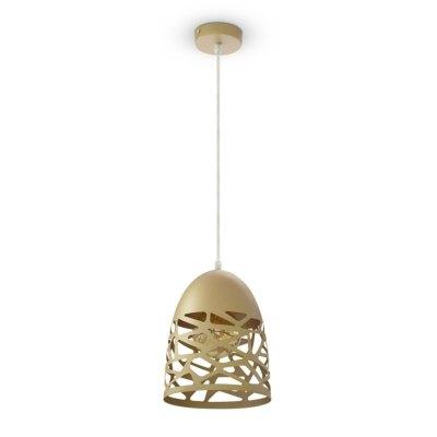 Image of   V-Tac Pendel lampe - Champagne/guld, metal, E27
