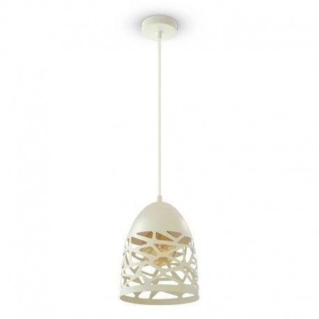 V-Tac Pendel lampe - Mat hvid, metal, E27