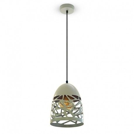 V-Tac Pendel lampe - mat grå, metal, E27