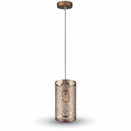 V-Tac pendel lampe - champagne/guld, metal, E27