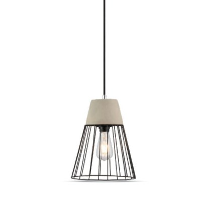 Image of   V-Tac beton+jern pendel lampe - Ø25cm, E27