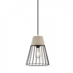 V-Tac beton+jern pendel lampe - Ø25cm, E27