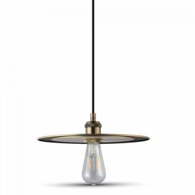 Image of   V-Tac Metal pendel lampe - Mat gylden, E27