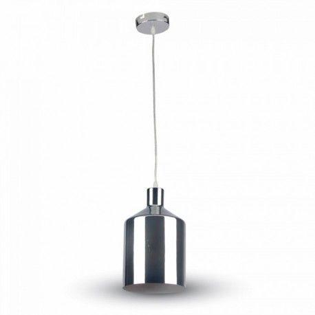 V-Tac krom pendel lampe - Ø17cm, E27