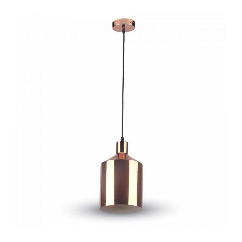 v tac kobber pendel lampe rosa guld 17cm e27. Black Bedroom Furniture Sets. Home Design Ideas